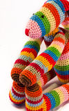 Multicolor fabric doll Royalty Free Stock Images
