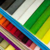 Multicolor fabric samples royalty free stock photo