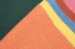 Multicolor fabric texture samples Stock Photos