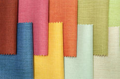 Multicolor fabric texture samples Royalty Free Stock Image