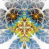 Multicolor fabulous fractal pattern. Collection - tree foliage. Royalty Free Stock Images