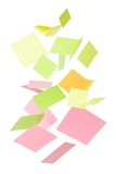 Multicolor falling stick notes Royalty Free Stock Images