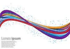 Multicolor falowy abstrakcjonistyczny tło z spirala wzorem Ilustracja Wektor