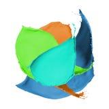 Multicolor farby pluśnięcie Obrazy Royalty Free