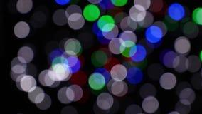 Multicolor festive lights bokeh background stock video footage