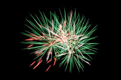 Multicolor fireworks. On black background stock photography