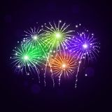 Multicolor Fireworks Show Royalty Free Stock Photo