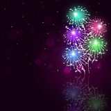 Multicolor Fireworks Show Royalty Free Stock Image