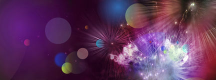 Multicolor fireworks Stock Photography
