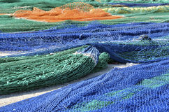 Multicolor fishing nets Royalty Free Stock Image