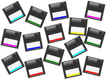 Multicolor floppy disk background Stock Photo