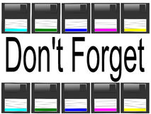 Multicolor floppy disk background Stock Photography