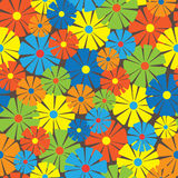 Multicolor floral ornament seamless pattern Stock Photos