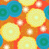 Multicolor floral pattern in bright colors. Multicolor seamless floral pattern in bright colors. Texture for web, print, wallpaper, home decor, spring summer royalty free illustration