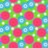 Multicolor floral pattern in bright colors. Multicolor seamless floral pattern in bright colors. Texture for web, print, wallpaper, home decor, spring summer stock illustration