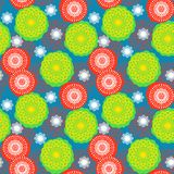 Multicolor floral pattern in bright colors. Stock Photos