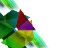 Multicolor flower left corner , abstrack background Stock Image