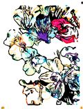 Multicolor flower watercolor splash lights vector illustration