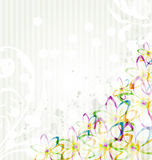 Multicolor flowers background Stock Images