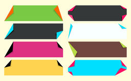 Multicolor fold corner paper set Royalty Free Stock Photo