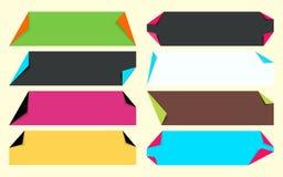 Multicolor fold corner paper set Royalty Free Stock Photo