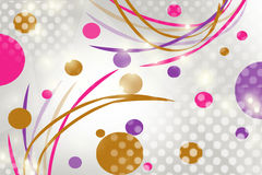 multicolor folded ribbons and circle, abstract background Stock Images