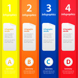 Multicolor folders infographic Royalty Free Stock Images