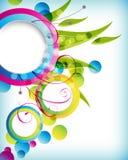 Multicolor foliage round frame background Stock Photography