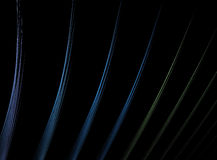 Multicolor Fractal Lines Over Black royalty free stock photography