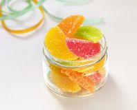 Multicolor Fruit Jelly Gummi Candies still life Stock Image