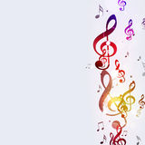 Multicolor Funky Music Notes Stock Image