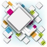 multicolor fyrkant för bakgrundsram stock illustrationer
