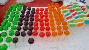 Multicolor galareta dla dzieci w rynku Obraz Royalty Free
