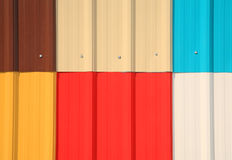 Multicolor galvanize wall pattern Royalty Free Stock Images