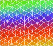 Multicolor geometric background consist of triangles. Triangular design for your business Stock Images