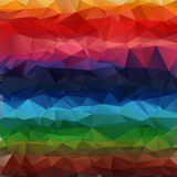 Multicolor geometric gradient polygon Stock Image