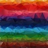 Multicolor geometric gradient polygon Stock Image