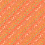 Multicolor geometric hipster pattern. With diagonal lines and small triangles, stylized of 1960s textile design Texture for print, wallpaper, website background Stock Illustration
