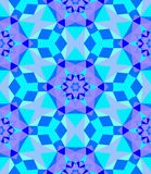 Multicolor geometric pattern in bright blue. Royalty Free Stock Photography