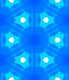 Multicolor geometric pattern in bright blue. Stock Photography