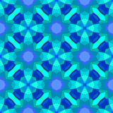 Multicolor geometric pattern in bright blue. Royalty Free Stock Photos