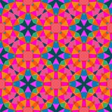 Multicolor geometric pattern in bright color. Royalty Free Stock Photos