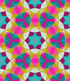 Multicolor geometric pattern in bright color. Royalty Free Stock Images