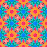 Multicolor geometric pattern in bright color. Royalty Free Stock Photo