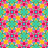 Multicolor geometric pattern in bright color. Stock Photography