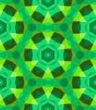 Multicolor geometric pattern in bright green. Stock Photo