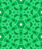 Multicolor geometric pattern in bright green. Stock Photography