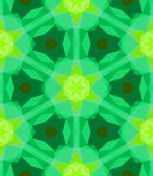 Multicolor geometric pattern in bright green. Royalty Free Stock Image