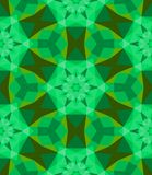 Multicolor geometric pattern in bright green. Royalty Free Stock Photography