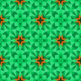 Multicolor geometric pattern in bright green. Royalty Free Stock Photo